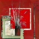 Vase Noir Aux Bambous