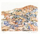 City-Scape With Blue Windows, Safed, 1928 (S.G.) - Edition 280`