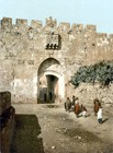 Jerusalem, Lion Gate around 1900
