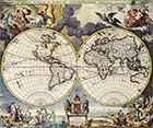 Double Hemisphere Map Moses Pittc 1680