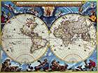 Double Hemisphere Map Joan Blaeuc 1662