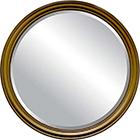 מראה עגולה כפתורים - זהב