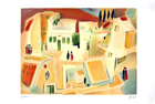 Square In Safed - Original (S.G.) Sined On Plate - Edition 1000