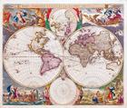 Orbis Terrarum Nova et Accuratissima Tabula by Nicolaes Visscher