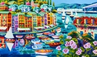 Danza Di Piccole Barche A Portofino