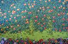 Orange Grove - Original mixed-media on canvas