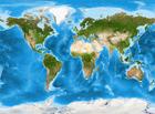 Detailed World Satellite Map Mural