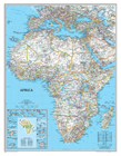 Classic styled map of Africa