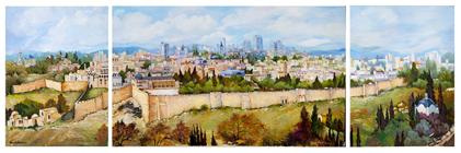 Panorama of Jerusalem (tryptich)
